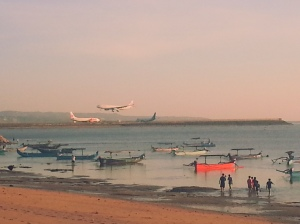 View to the Ngurah Rai International Airport runaway